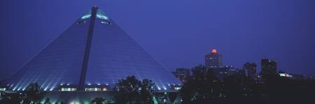 Night The Pyramid and Skyline Memphis TN