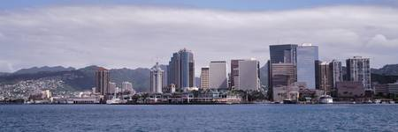 Downtown Honolulu skyline Oahu HI