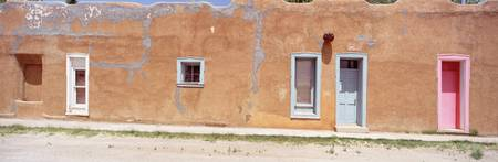 Facade of Adobe Houses