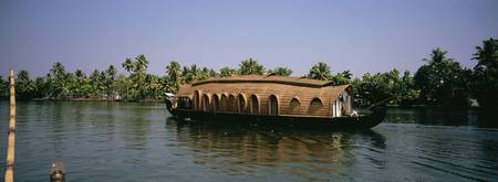 Houseboat on water