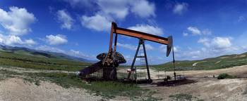 Oil drill on a landscape