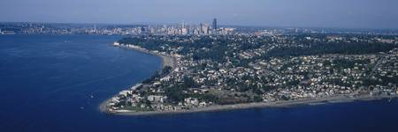Aerial view of Alki Point