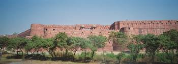 Low angle view of a fort