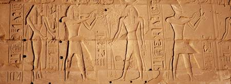 Close-up of hieroglyphics