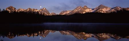 Reflection of mountains in water Little Redfish L