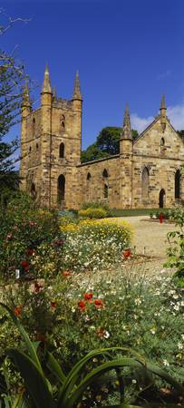 Church Ruins Port Arthur Historic Site Tasmania A