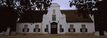 Facade of a Cape Dutch Style house