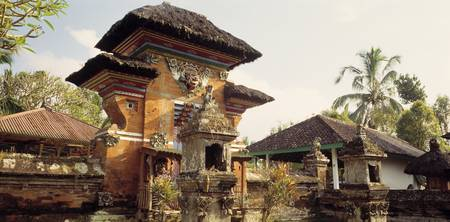 Hindu Temple Balinese Village Indonesia
