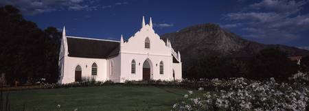 Facade of a Cape Dutch style church