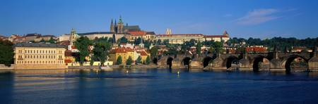 Vitava River Charles Bridge Prague Czech Republic