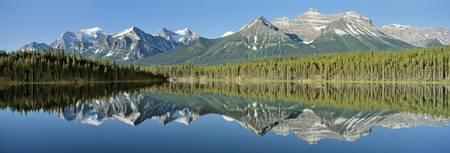 Refection of mountains in water