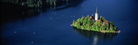 Church Lake Bled Slovenia