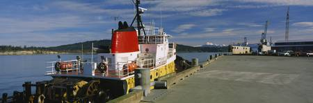 Tug boat at a dock