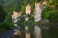 Limestone bluffs along Upper Iowa River