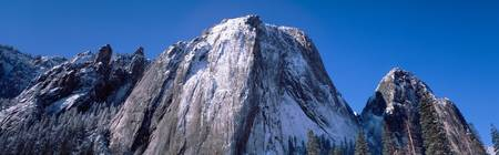 Middle and Lower Cathedral Rocks Yosemite Nationa