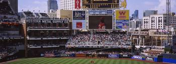 Visual screen in a baseball stadium