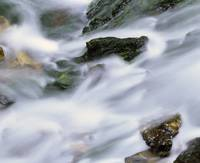 Water rushing over rocks
