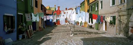 Clothesline in a street