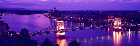Chain Bridge Danube River Budapest Hungary