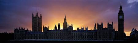 Sunset Houses of Parliament and Big Ben London En