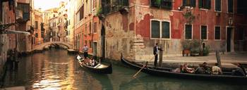 Tourists in a gondola