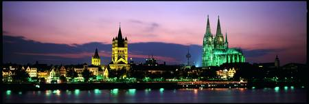 Skyline w/Cologne Cathedral Rhein River Cologne G