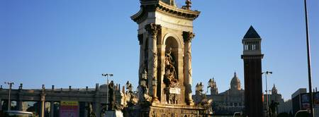 Statues of a monument
