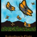 """Butterflies in Flight"" by Gregory"