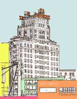 El Cortez Color Drawing by RD Riccoboni