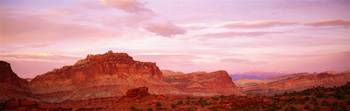 Dusk Panorama Point Capital Reef National Park UT