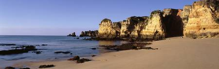 Beach Coastline Algrave region Lagos S Portugal