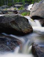 Water cascading over rocks