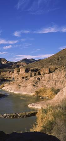 View of Rio Grande River Big Bend National Park T