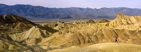Single Female Jogger Zabriskie Point Death Valley