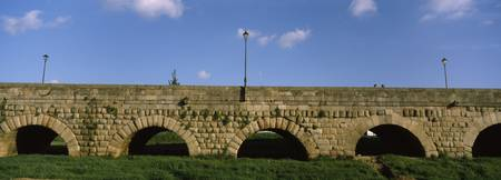 Lampposts on a roman aqueduct