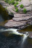 Rock cliffs along Temperance River
