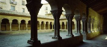 Courtyard in a cathedral