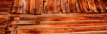 Detail weathered wooden barn CA