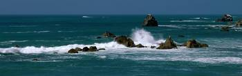 Pacific Ocean Waves and Sea Stacks CA