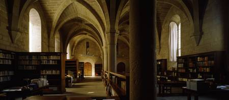 Interiors of a library in a monastery