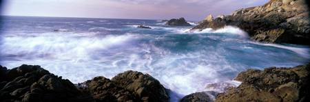 Pacific Ocean Waves near San Simeon Point CA
