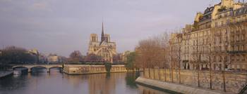 Cathedral near Seine river