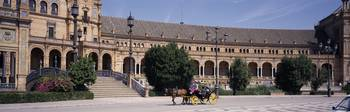 Carriage in front of a palace