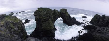 Natural arch in the sea
