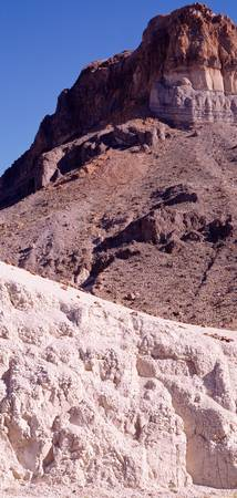 Cerro Castellan w/tuff rock Castolon Big Bend Nat