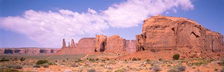 Three Sisters and Camel Butte Monument Valley AZ