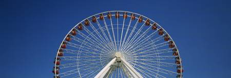 Low angle view of a ferris wheel