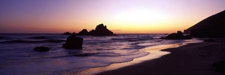 Pfeiffer Beach sunset Big Sur CA