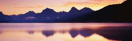 Sunset Lake McDonald Glacier National Park MT