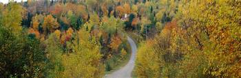 Road near Saint-Sauveur Laurentides Quebec Canada